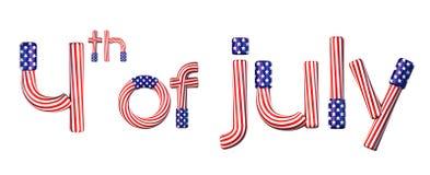 4 de julio stock de ilustración