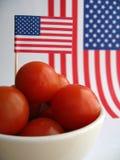 4 de Tomaten van Juli Stock Afbeeldingen
