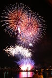 4. der Juli-Feuerwerke Lizenzfreies Stockfoto