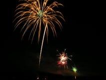 4. der Juli-Feuerwerke Lizenzfreie Stockfotografie