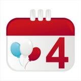 4. der Juli-Kalenderikone lizenzfreie abbildung