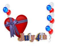 4. des Juli-patriotischen Randes Lizenzfreies Stockbild