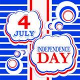 4. des Juli-Unabhängigkeitstaghintergrundes Stockfotografie