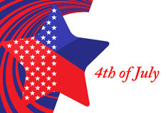 4. des Juli-Unabhängigkeitstags Lizenzfreies Stockfoto
