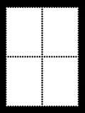 4 descripteurs en blanc d'estampille Photo stock