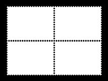 4 descripteurs en blanc d'estampille (horizontal) Photographie stock libre de droits