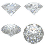4 Diamonds set on white background Stock Image