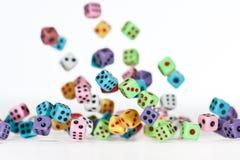 4 dices spadać zdjęcie stock