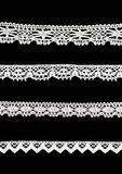 4 different lace borders stock photography