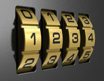 4-digit combination lock Stock Photo