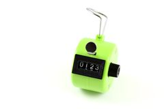 4 digits Hand Held Tally Counter Royalty Free Stock Photography