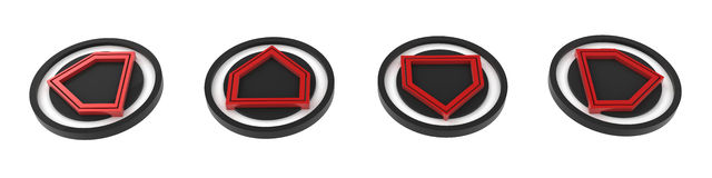 4 Direction Buttons Royalty Free Stock Photo
