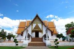 4 directions church at Wat Phoo-min,Nan,Thailand royalty free stock photo