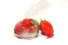 4 djupfryst jordgubbar Royaltyfri Bild