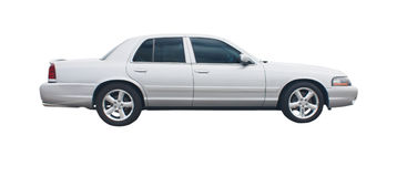 4 door silver sedan Stock Photography