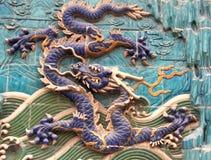 4 dragron壁画 免版税图库摄影