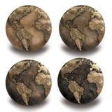 4 Dryed globes Stock Photos