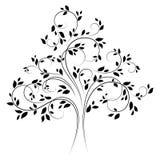 4 drzewo czarny wektor Obraz Royalty Free