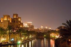 4 Dubai noc scena Zdjęcie Royalty Free