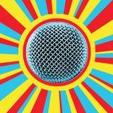 4 dyskotek mikrofonu Obrazy Stock