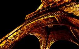4 Eiffel noc wierza Obraz Stock