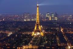 4 Eiffel noc wierza Fotografia Stock