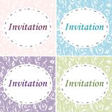 4 eleganta inbjudningar royaltyfria bilder