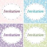 4 elegante Uitnodigingen royalty-vrije stock afbeeldingen