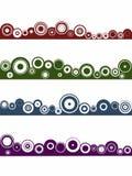 4 elementos del círculo del paisaje stock de ilustración