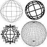 4 elementos do globo Fotos de Stock