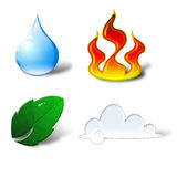 4 elements Stock Photography