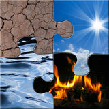 The 4 elements Stock Images