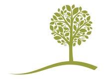 4 emblematów drzewa wektor Obrazy Stock