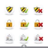 4 κουμπιά καμία σειρά ασφάλ&ep Στοκ φωτογραφία με δικαίωμα ελεύθερης χρήσης