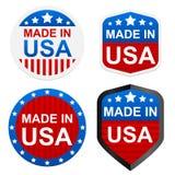 4 etiquetas engomadas - hechas en los E.E.U.U. Imagen de archivo libre de regalías