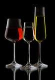 4 exponeringsglas wine Fotografering för Bildbyråer