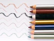 4 eyeliners Arkivfoton