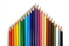 4 färgblyertspennor Arkivbild