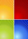 4 färgrika bakgrunder Arkivfoton