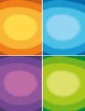 4 färgrika bakgrunder Royaltyfri Bild
