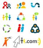 4 färgrika designelement Fotografering för Bildbyråer