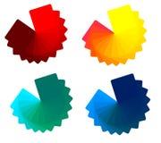 4 färgsignaler Arkivfoton