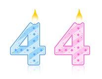 4 födelsedag stearinljus vektor illustrationer