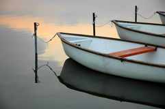 4 fartyg lugnar laken Royaltyfria Foton