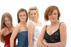 4 Fashion Teen Models Stock Photography