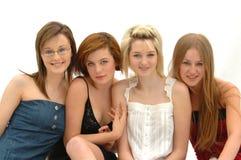 4 Fashion Teen Models Royalty Free Stock Photos