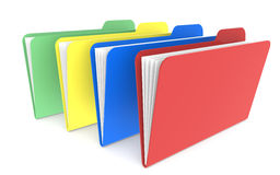 4 Files. Red, green, yellow and red Royalty Free Stock Image