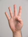 4 fingrar Fotografering för Bildbyråer