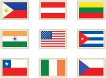 4 flags штемпеля Стоковое Изображение RF