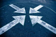 4 flechas I Imagen de archivo